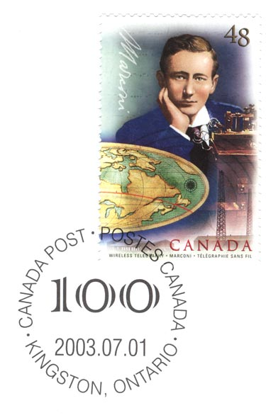 Canadian stamp from 2003 honoring Marconi